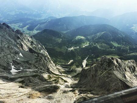 view to the dachstein in austria at summer