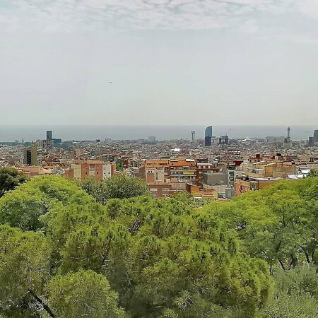 view to barcelona at summertime