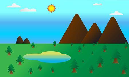moutain: moutain landscape vector