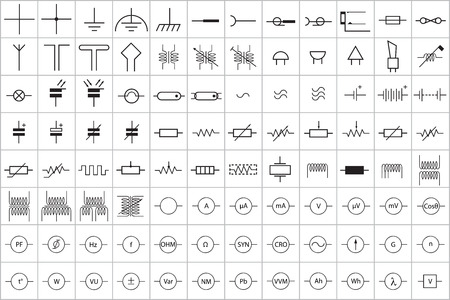 inductor: 96 Electronic and Electric Symbol Vector Vol.1 Illustration