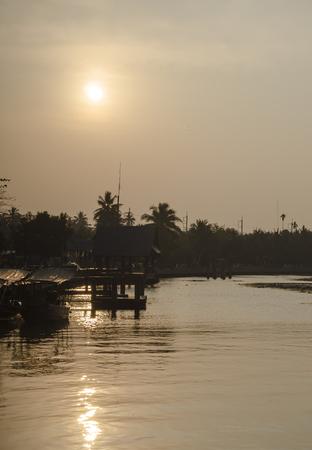 Sunrise river photo