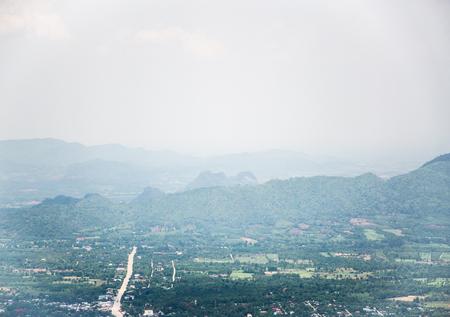 loei: Sunset beam shining at Phu Kradueng National Park Loei Province Thailand Stock Photo