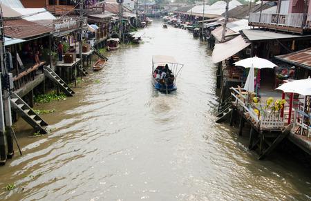 Vue de Amphawa marché flottant Amphawa Thaïlande Banque d'images - 39885763