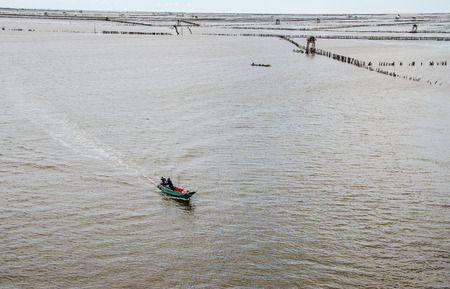 Oyster farm landscape in Bang Taboon  thailand photo