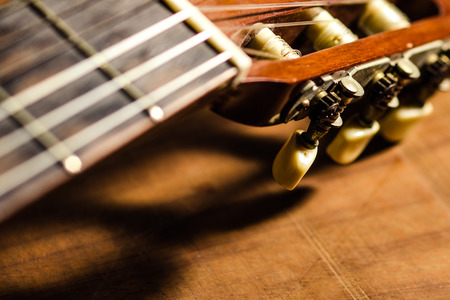 detail: Detail of a classic guitar Stock Photo