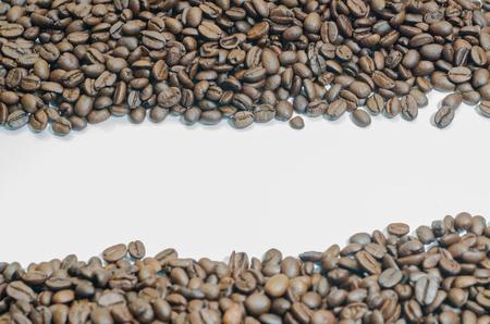 gaffe: Coffee bean on white background.