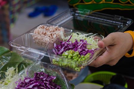 Thai street food Soft-focus image