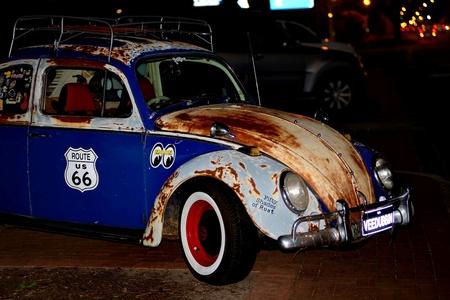 Vintage vw Beetle all rusty Stock Photo