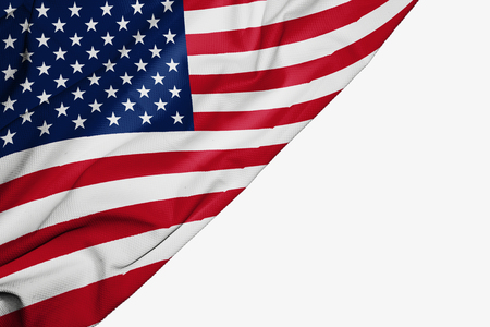 American flag of fabric with copyspace for your text on white background Reklamní fotografie