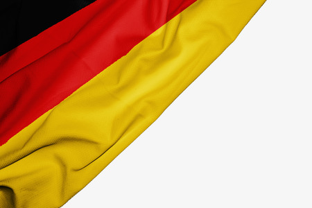 Germany flag of fabric with copyspace for your text on white background