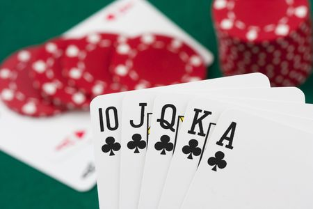 Poker cards, royal flush photo