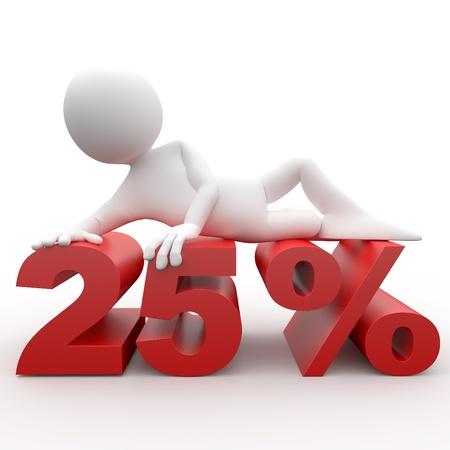 3d human lying in 25 percent photo