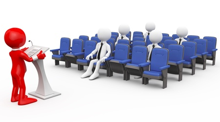 3D human lecturing Stock Photo - 8375354