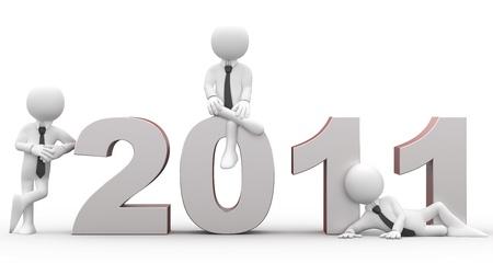 Happy New Year 2011 Stock Photo - 8375349