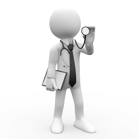 Doctor with a stethoscope auscultation Stock Photo - 8443357