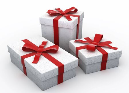 3D Christmas gifts photo