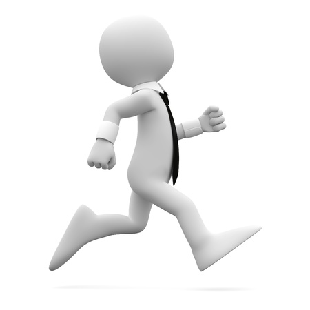 running businessman: Man running with suit and tie