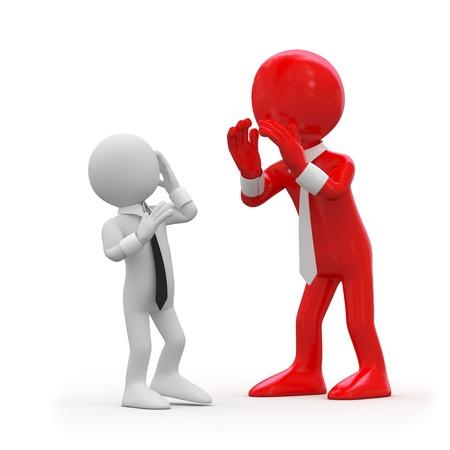 yelling: Boss yelling at an employee