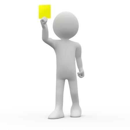 arbitri: Carta di visualizzando giallo arbitro