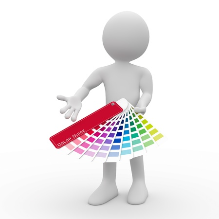 Graphic designer showing a color palette Stock Photo - 9521368