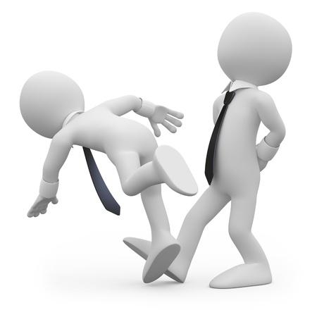 hombre cayendo: Empresario viaje a un compa�ero