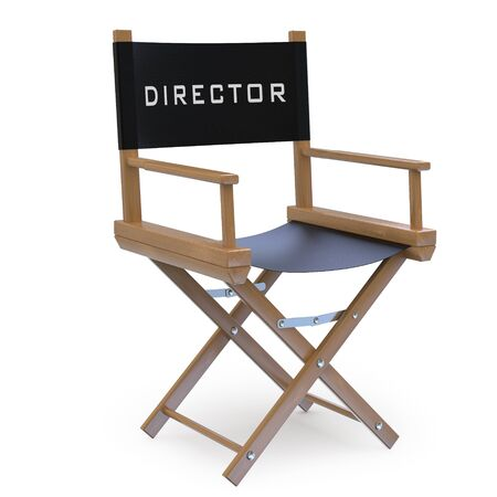 director's chair: Film director Stock Photo