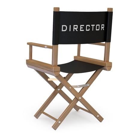 filmregisseur: Filmregisseur stoel achteraanzicht