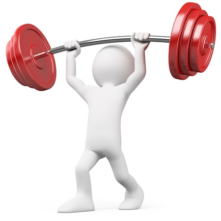 man lifting weights: Athlete lifting weights Stock Photo