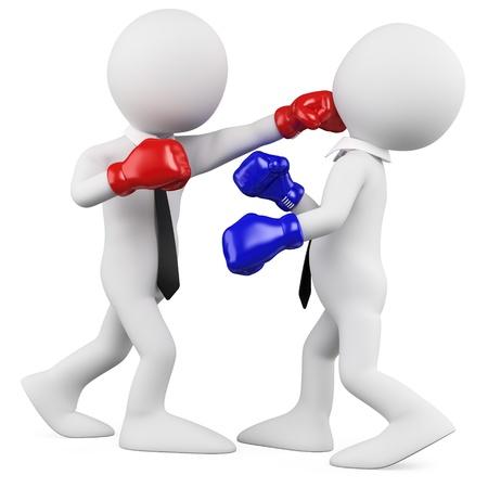 Les hommes d'affaires dans un match de boxe