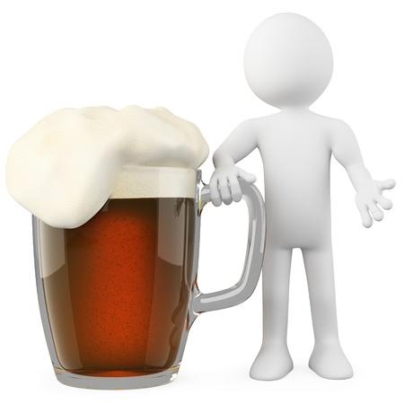 schwarzbier: Man st�tzte sich auf ein dunkles Bier