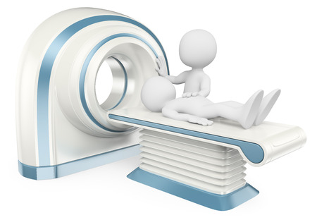 3d white people. Computed tomography. Medical. CT. Isolated white background.