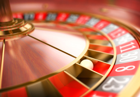 wealth: 3d Casino roulette. Gambling concept. Realistic render