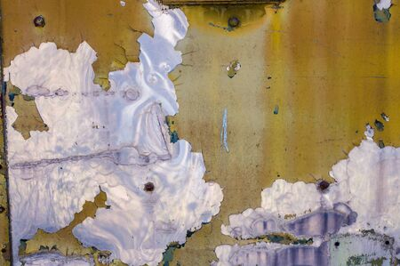 crashed paint, damaged paint