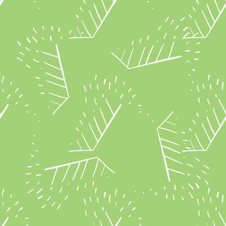 Vector seamless texture background pattern. Hand drawn, green and white colors.  イラスト・ベクター素材