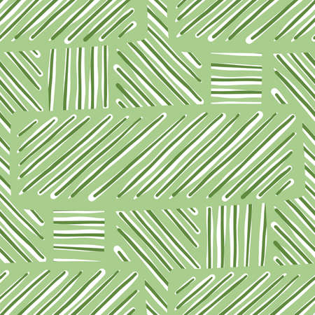 Vector seamless texture background pattern. Hand drawn, green and white colors.