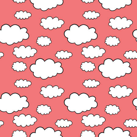 Vector seamless texture background pattern. Hand drawn, red, white and black colors.