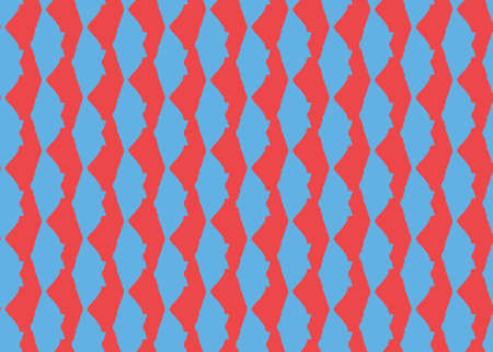 Vector texture background, seamless pattern. Hand drawn, red and blue colors.