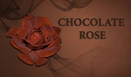Chocolate roses on the background. Banco de Imagens