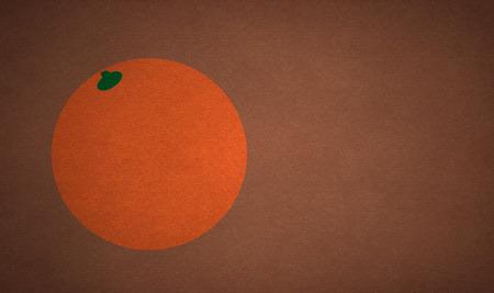 pastiche: Pastiche of orange on a brown background.