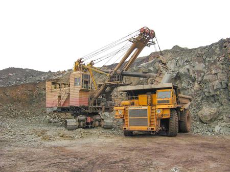 Development of coal in a coal mine. Stock Photo