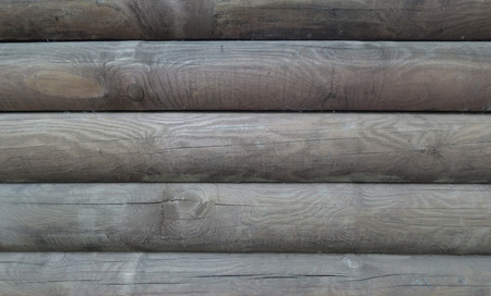 The texture of the laid wooden timber. Banco de Imagens