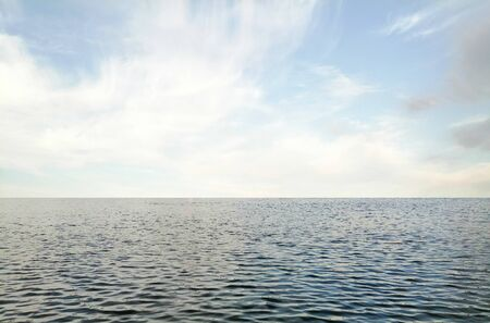 Seascape of the Baltic Sea in the summer. Standard-Bild