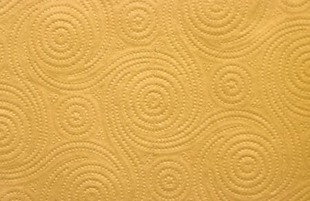 The texture of the textile paper towel is yellow.