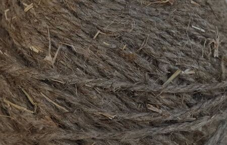 Rope woven from a flax plant