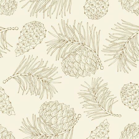 Cone seamless pattern. Vector illustration. Ilustração