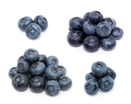 Blueberry set isolated on white background