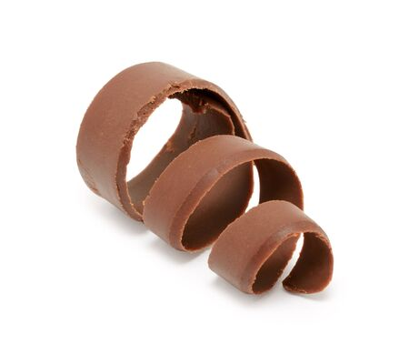 Chocolate curl isolated on white background