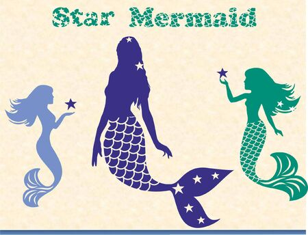 Legendary Mermaid, Triple Mermaid Bundle - Can be used for holiday ads and t-shirt design