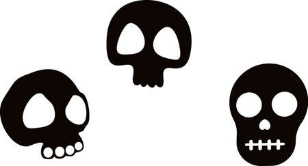 SKULL and bones. Vector - Eps