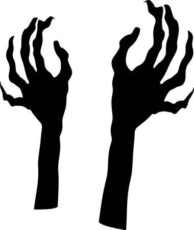 Witch Hands on white background. Vector-EPS